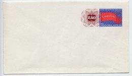 YUGOSLAVIA 1980 2.50 Surcharge On Red Flag Centenary Envelope Unused. Michel U87 II - Postal Stationery