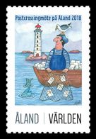 Aland 2018 Mih. 436I Postcrossing. Lighthouse. Fishes. Birds MNH ** - Aland
