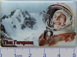 86-1u Space Russian Pin Gagarin Peak. Mountains - Space