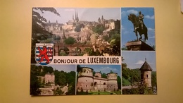 CARTOLINA 1972 LUSSEMBURGO LUXEMBURG - MODENA PANORAMA PONTE  BOLLO GRANDUCA JEAN 1966 - Lussemburgo - Città