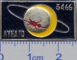 264 Space Soviet Russia Pin. Luna-10 Soviet Moon Program - Space