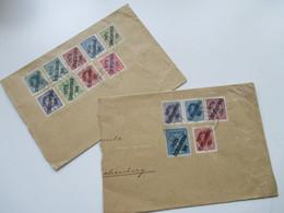 CSSR Marken Von Österreich Mit Aufdruck Posta Ceskoslovenska 2 Belege Mit Insgesamt 14 Marken! Verwendet Januar 1920 - Tschechoslowakei/CSSR