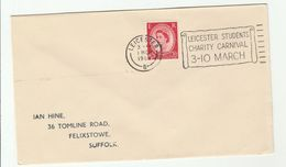 1962 GB COVER SLOGAN Pmk LEICESTER STUDENTS CARNIVAL , Stamps - Carnival