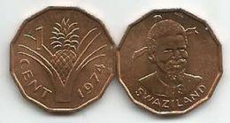 Swaziland 1 Cent 1974. KM#7 UNC - Swaziland