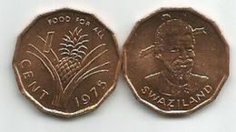 Swaziland 1 Cent 1975. KM#21 FAO UNC - Swaziland
