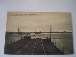 Cuijk (N-Br.) Watersnood 1920 // Doorbraak Spoorbaan Tussen Cuijk En Mook // 19?? Zeldzaam - Nederland