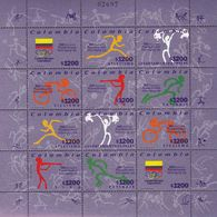 Colombia. 1999. Sport. Cycling. Michel. 2124-35.  MNH.25492 - Timbres