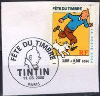 FRANCE 3303 FDC Premier Jour Fête Du Timbre 2000 Ur Fragment Paris Aventures TINTIN HERGE KUIFJE BEDE COMICS STRIP - Comics