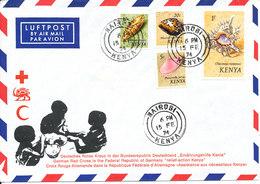 Kenya Air Mail Cover German Red Cross Relief Action Kenya Nairobi 15-2-1974 Topic Stamps - Kenia (1963-...)