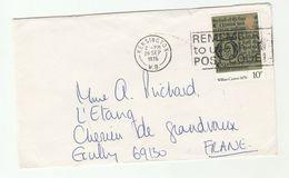 1976 Kensington GB COVER SLOGAN Pmk  REMEMBER USE POST CODE Caxton  Stamps - 1952-.... (Elizabeth II)