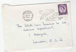 1963c South Kensington GB COVER SLOGAN Pmk '6d CHEAP EFFECTIVE RECORDED DELIVERY' Stamps - 1952-.... (Elizabeth II)