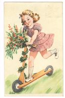 1948 - NR 21338/1 - TRES BELLE CARTE - ZEER MOOIE KAART VRASENE - MEISJE BLOEMEN OP STEP - Fancy Cards