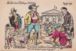 H2- POLITIQUE - ILLUSTRATEUR FLEURY -  44 ° SEMAINE POLITIQUE SATIRIQUE - ANNEE 1906 - (2 SCANS) - Satiriques
