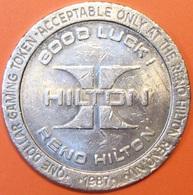 $1 Casino Token. Hilton, Reno, NV. 1987. D58. - Casino
