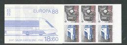 EUROPA - SUEDE 1988 - CARNET  YT C1478 - Facit H388 - Neuf ** MNH - Transport Et Communication - Europa-CEPT