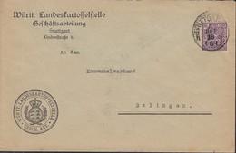 INFLA Württemberg Dienstpost 252 EF Auf Brief Der Württ. Landeskartoffelstelle Mit Stempel: Stuttgart 4.DEZ 1918 - Wuerttemberg