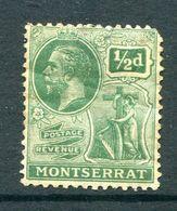 Montserrat 1922-29 KGV (Wmk. Script CA) - ½d Green HM (SG 63) - Montserrat