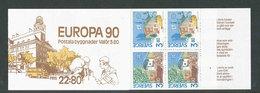 EUROPA - SUEDE 1990 - CARNET  YT C1572 - Facit H403 - Neuf ** MNH - Bâtiments Postaux - Europa-CEPT