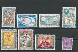 ALGÉRIE Scott 399, 397, 398, 400-402, 403, J59 Yvert 469, 468, 467, 474-476, 473, Taxe 64 (8) ** Cote 5,25 $ 1968 - Algérie (1962-...)