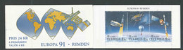 EUROPA - SUEDE 1991 - CARNET  YT C1653 - Facit H414 - Neuf ** MNH - L'Europe Et L'espace - BF N°19 - 1991