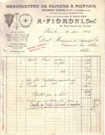PARIS , CREYSSE , DORDOGNE - MANUFACTURE DE PAPIERS A FILTRER , BERNARD DUMAS & CIE - A. FIORONI SUCCR - 1913 - France