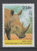 TIMBRE NEUF DE GUINEE - RHINOCEROS BLANC (CEROTHOTERIM SIMUN) N° Y&T 1112 - Rhinozerosse