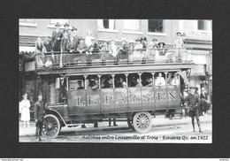 TROIS RIVIÈRES - QUÉBEC - AUTOBUS LE PARISIEN ENTRE LOUISEVILLE ET TROIS RIVIÈRES EN 1922 - Trois-Rivières