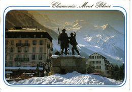 74 Chamonix Mont Blanc Statue Guide J. Balmat Physicien H. De Saussure 1991 Astoria Restaurant Citroën 2CV - Chamonix-Mont-Blanc