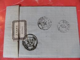 03.04.18-LAC Avec N°60  De Pézénas (hérault),etiquette Pub A Voir!! - 1849-1876: Periodo Classico