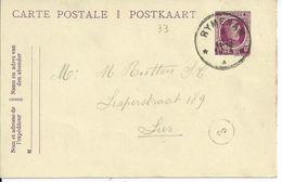 15c-postkaart - Afstempeling RYMENAM Relais - 1922-1927 Houyoux