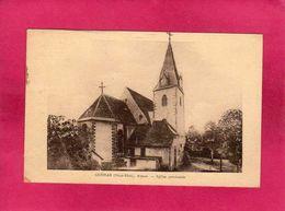 68 Haut-Rhin, Guémar, Eglise Paroissiale, 1938, (J. Kuntz) - Autres Communes