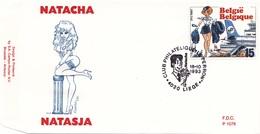 B01-032-1 2528  BD P1076 FDC   Rare Natasja Natacha Walthéry François 16-10-1993 4020 Liège €9 - FDC
