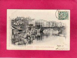 81 Tarn, Castres, L'Agoût En Aval De Pont De Miredames1903, (Labouche) - Castres