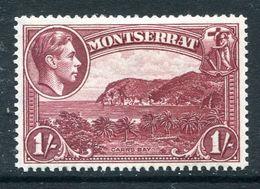 Montserrat 1938-48 KGVI Definitives - 1/- Carr's Bay - P.14 - HM (SG 108a) - Montserrat