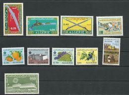 ALGÉRIE Scott 444-446, 459, 439-441, 442, 434, 449 Yvert 519-521, 527, 514-516, 518, 509, 524 (10) ** Cote 9,50 $ 1970 - Algérie (1962-...)