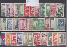 ALGERIE LOT  34 VALEURS NEUFS AVEC CHARNIERE - Algérie (1924-1962)