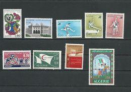 ALGÉRIE Scott 470, 460, 461-463, 465, B104, 477, 483 Yvert 542, 530, 532-534, 535, 536, 549, 555 (9) ** Cote 6 $ 1971-2 - Algérie (1962-...)