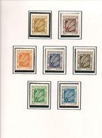 ALGÉRIE Scott J60-J68 Yvert Taxe 60-68 (7) ** Cote 4,80 $ 1972 - Algérie (1962-...)