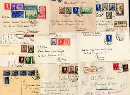 3131 ALBANIA OCC. ITALIANA 1939/1941 - Insieme Di 12 Buste/cartoline E Due Frammenti Con Belle Affrancatu... - Postzegels