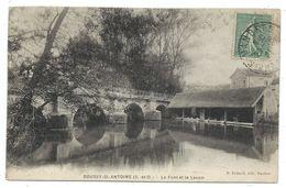 CPA - BOUSSY SAINT ANTOINE, LE PONT ET LE LAVOIR - Essonne 91 - Circulé 1921 - Edit. R. Thibault à Mandres - France