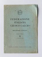 Sport - Federazione Italiana Giuoco Calcio - Bollettino 1 - 15 Luglio 1950 - Unclassified