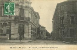 Beaurepaire - Rue Gambetta, Ecole Primaire De Jeunes Filles - Beaurepaire