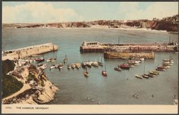 The Harbour, Newquay, Cornwall, 1961 - Harvey Barton Postcard - Newquay