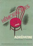 Publicité -  Adrépatine    ,Laboratoire Laleuf - Advertising