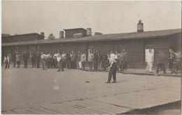 CPA PHOTO GUERRE 1914 1918 Camp De Prisonniers Français MÜNSTER Sport Le Jeu De Balle Signée BOSCHE Emile Rare - War 1914-18