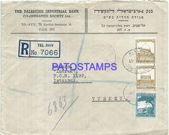 91976 PALESTINA TEL AVIV COVER YEAR 1937 REGISTERED CIRCULATED TO TURKEY NO POSTAL POSTCARD - Palestina