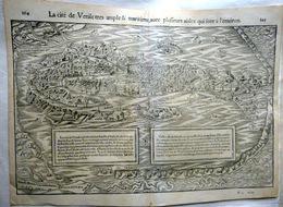 ITALIE VENISE VENEZIA GRANDE CARTE 1552 VUE CAVALIERE DE LA SERENISSIME CARTE XVI° SIECLE - Cartes Géographiques