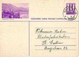 """PK 139  """"Minusio (Ticino)""""           1939 - Entiers Postaux"""