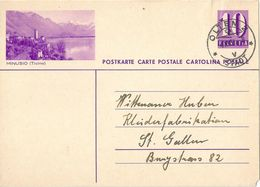 "PK 139  ""Minusio (Ticino)""           1939 - Interi Postali"