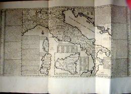 ITALIA NOUVELLE CARTE DE L'ETAT PRESENT DE L'ITALIE CHATELAIN VERS 1710 GRANDE CARTE DEPLIANTE - Cartes Géographiques